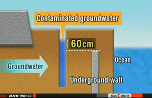 TEPCO Fukishima nuclear power plant chart showing level of contamination