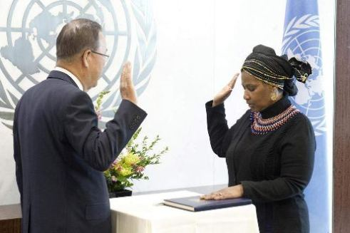 New Exec Director of UN Women Phumzile Mlambo-Ngcuka gets sworn in to her new position