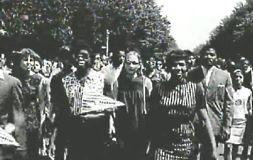 American black as well as white women march on Washington, D.C. for black civil rights in August 1963
