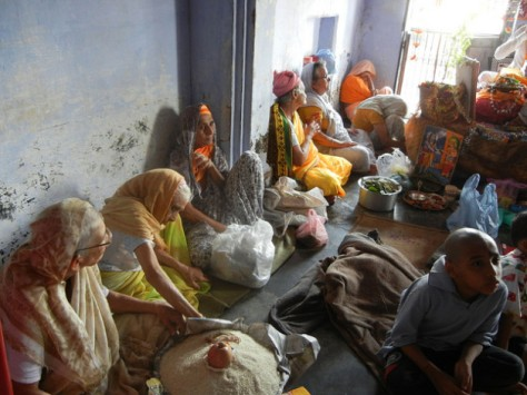 Widows at a shelter