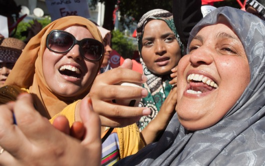 Tunisian women rally