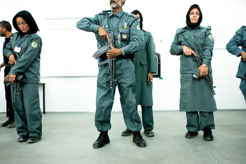 Afghan women police cadets