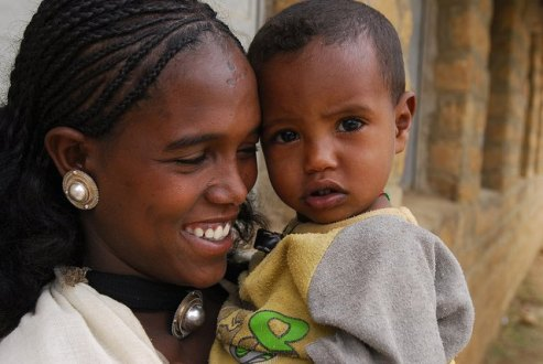 Mother and child in Ethiopia