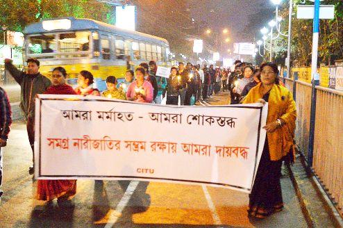 Stop rape violence against women in Kokata, India