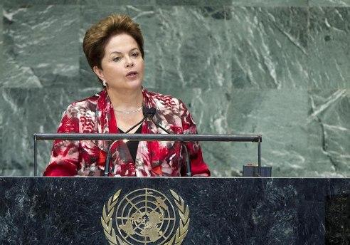 Brazil President Rousseff at UN