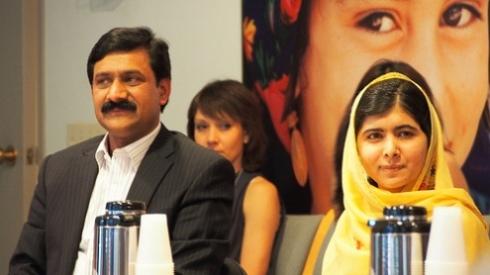 Malala Yousafzai and her father