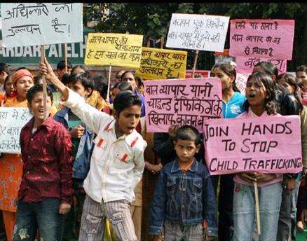 Children protesters