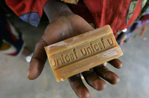 African child hods bar of soap