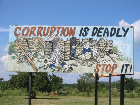 "Uganda, Africa billboard for ""Stop Corruption"""