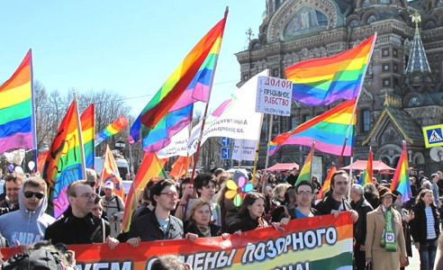 Moscow, Russia LGBTI rally