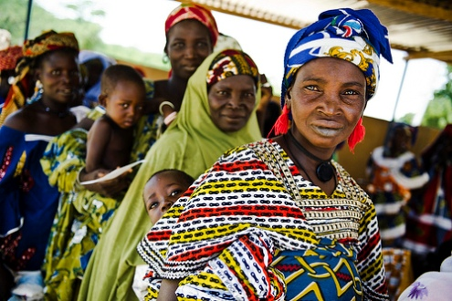 Burkina Faso mothers and children