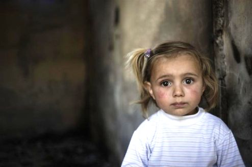 Young Syrian girl