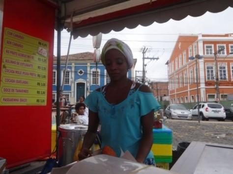 Woman street vendor