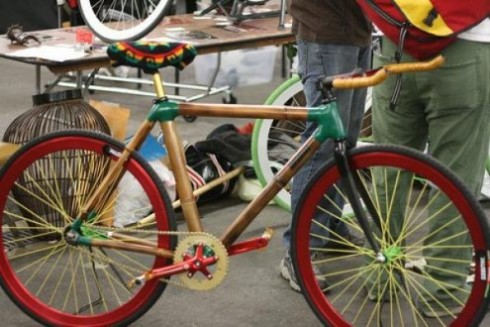 Bamboo bicycle from Ghana, Africa