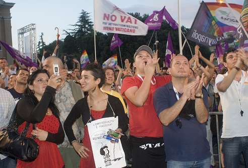 Gay Pride March Rome, Italy