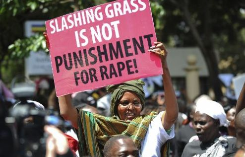 Protest against Kenya's court after child rape case
