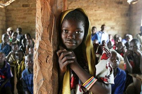 Girl child Mele Village, Central African Republic
