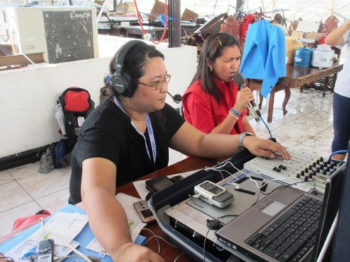 Women radio broadcasters with First Response Radio