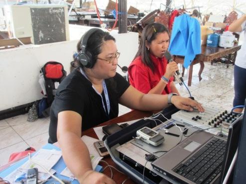 Women radio broadcasters with First Response Radio