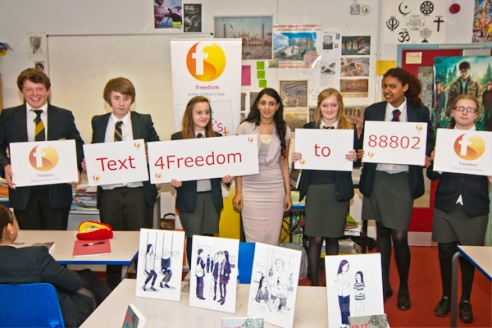 Youth volunteers for Freedom Charity London