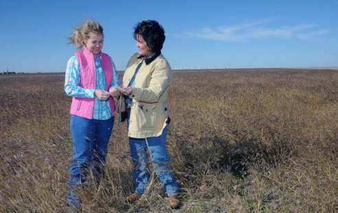 Two women farmers in Texas, USA