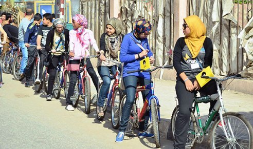 Bike protest in Cairo