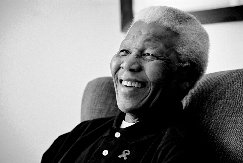 Nelson Mandela at the age of 94