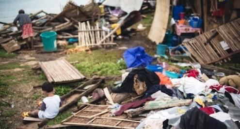 Cebu Island, Philippines typhoon destruction 2013