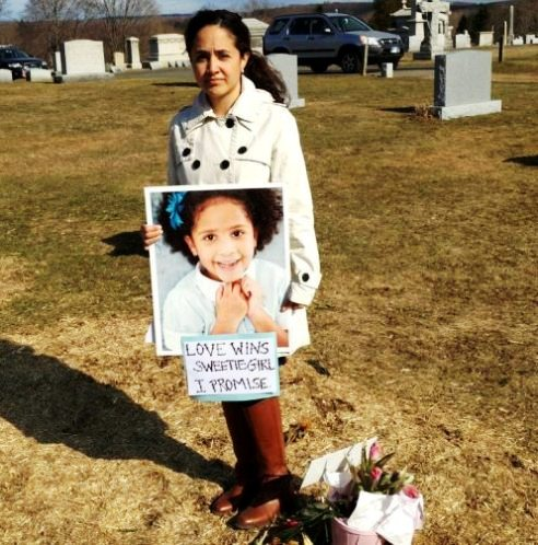 Ana Marquez-Greene stands at her daughters graveside