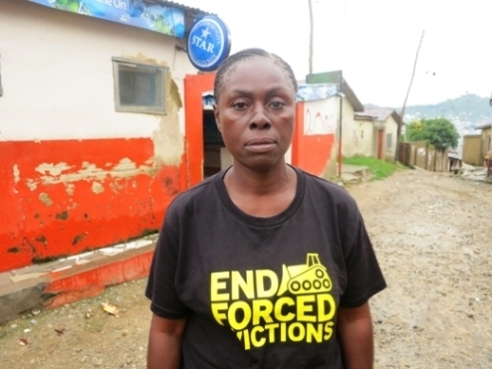 Stop Forced Evictions Nigeria activist Ms. Bimbo Osobe