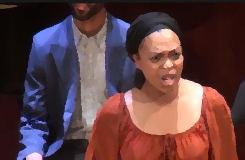 Opera singer Sumayya Ali on stage