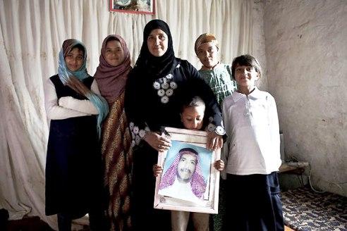 Iraq widow and children