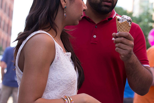 Couple with ice-cream