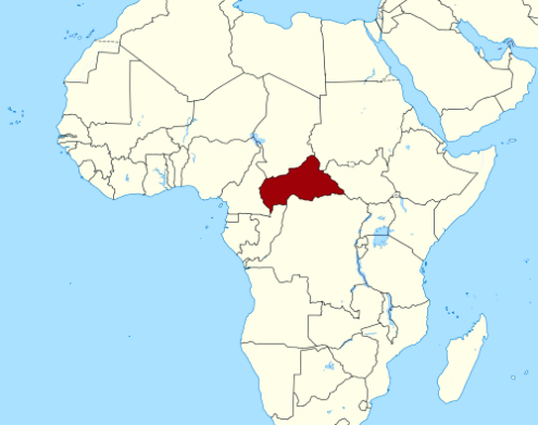 Map showing Central African Republic location