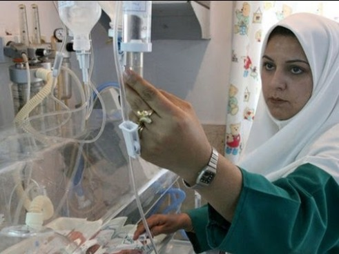 Woman nurse Tehran, Iran