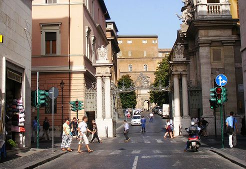 Main street entrance to the Vatican City