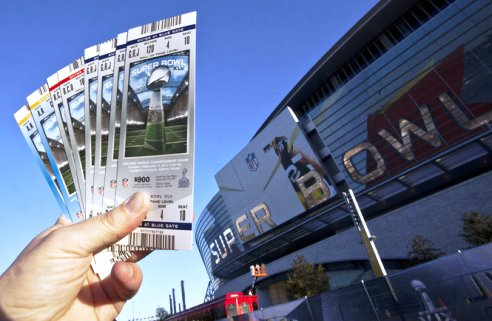 Scalpers tickets for 2014 Super Bowl