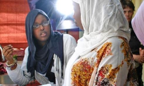 Members of the anti-FGM organization Integrate Bristol in London