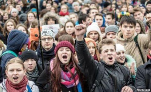 Ukraine student protesters