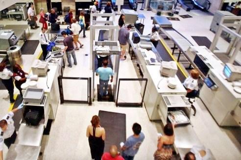JFK Airport security screening area, Terminal 7. Image: JFK/TSA