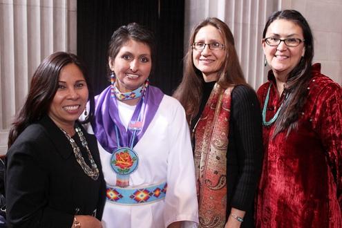 Native American women VAWA signing