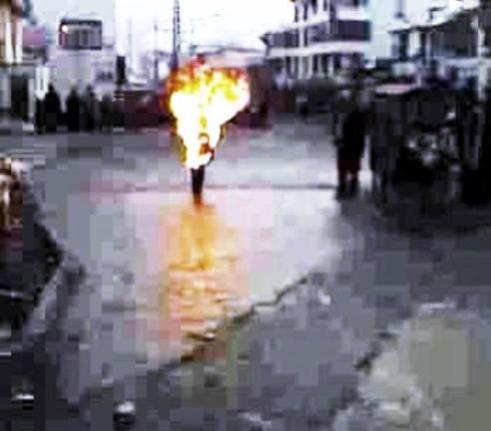 Tibetan Buddhist monk Lobsand Dorjeee self-immolation