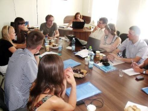 Activists, bloggers and journalists training in Kiev
