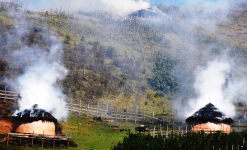 Sengwer indigenous homes on fire in Kenya's Embobut forest region