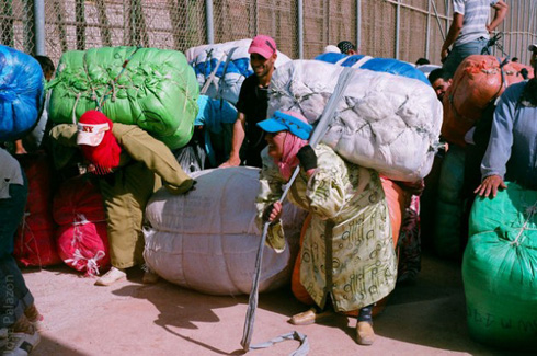 Morrocco Women carring heavy loads