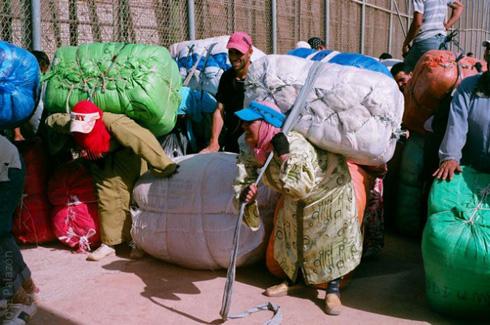Morrocco Women carring heavy loads