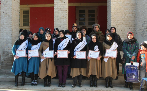 Old Aqcha first female graduating class