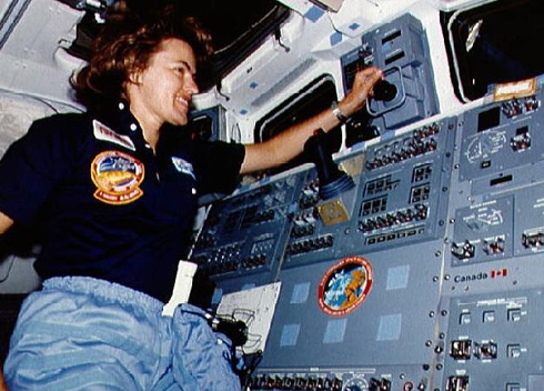 Shannon Lucid in space.