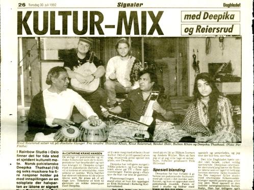 Deeyah with music mentors in Norway 1992