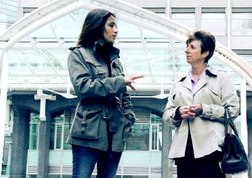 Deeyah with Scotland Yard Dectective Caroline Goode